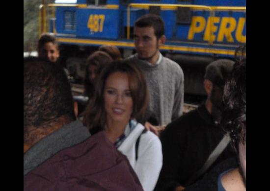 Susana Viera en Cusco (filmando Amor a Vida)